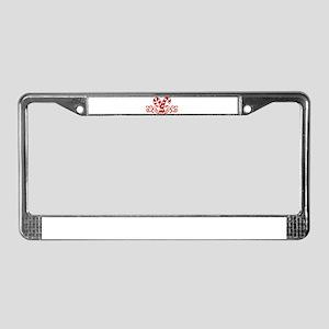 candy cane [flourish] License Plate Frame